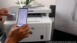 HP LASERJET PRO MFP M148DW SET UP / CONNECT TO WIFI