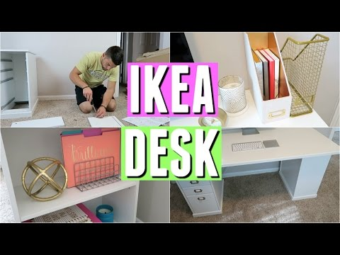 IKEA DESK REVIEW, ASSEMBLY, AND DECOR!