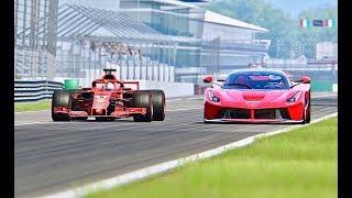 Ferrari F1 2018 vs La Ferrari -  Monza