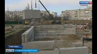 Строительство нового детсада в Георгиевске ведется по графику