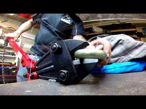 Bolt Cutters Croppers vs. Pragmasis Protector Almax Immobiliser 16mm Chain Cut with Angle Grinder.