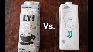 Oatly Barista Milk vs. Minor Figures Oat Milk | Breville Barista Express | Niche Zero Coffee Grinder