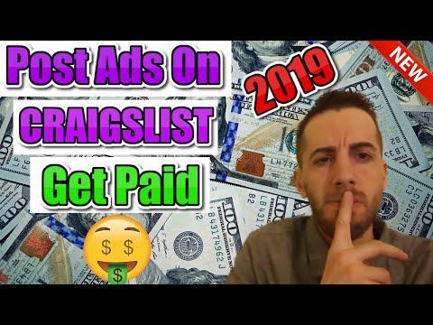 How to Make Money on Craigslist Posting Ads 2019