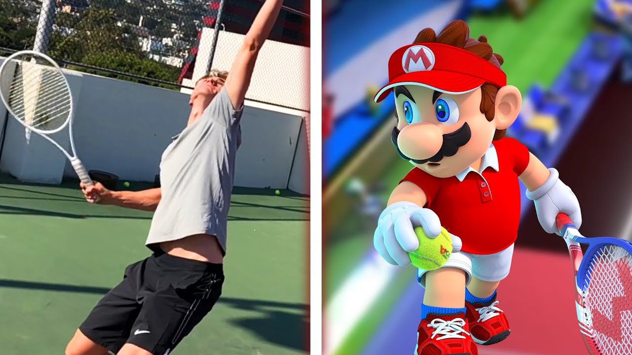 Professional Tennis Player Tries Mario Tennis Aces thumbnail