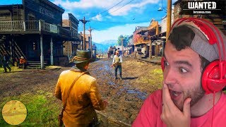 RED DEAD REDEMPTION 2 GAMEPLAY REACTION - OFFICIAL GAMEPLAY TRAILER #4 (RDR 2 Gameplay PS4)