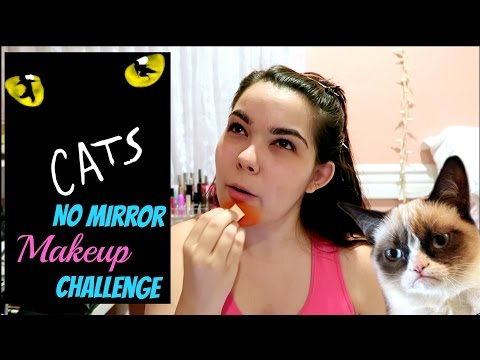 CATS No Mirror Makeup Challenge | Halloween