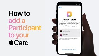 Apple Card - How to add a Participant