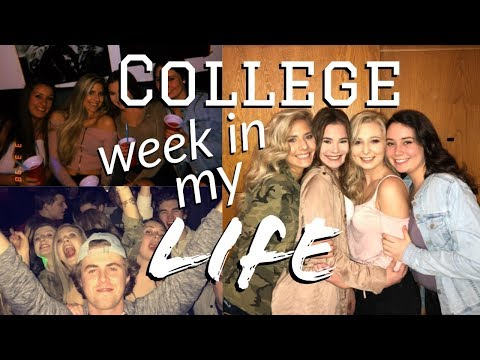 college week in my life: tests, going out, starbucks runs