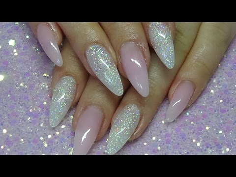 Elegant Acrylic Nails Using Cjp