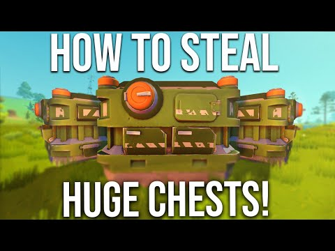 STEALING HUGE CHESTS FOR MY BASE (UNLIMITED LOOT)!! - SCRAP MECHANICS SURVIVAL #28