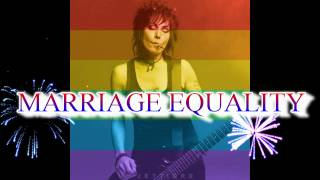 Joan Jett - HAPPY MARRIAGE EQUALITY !