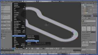 Blender Tutorial Making a Racing Track for a Car Game (design from Scalectrix Track Designer)