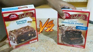Cooking With Pops #3 Feat Len: BETTY CROCKER BROWNIES! (SUPREME WALNUT Vs CHOCOLATE CHUNK)