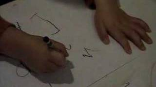3 year old writing letters