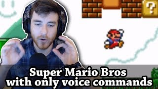 Can you beat Mario Bros 1-1 with ONLY voice commands?