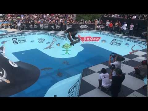 HUGE Backside Ollie: Greyson Fletcher at Vans Pro Skate Park Series