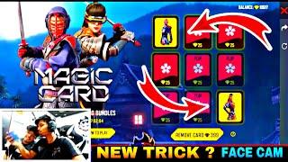 FREE FIRE NEW MAGIC CARD FLIP EVENT ||WE GOT BOTH THE BUNDLES IN LESS DIAMONDS || TRICK? LIVE