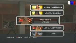 Как менять цвет одежды рестлерам в игре WWE SvR 2011