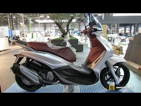 2015 Piaggio Beverly Sport Touring Scooter - Walkaround - 2014 EICMA Milan Motorcycle Exhibition