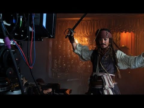 'Pirates of the Caribbean: On Stranger Tides': On-Set Footage