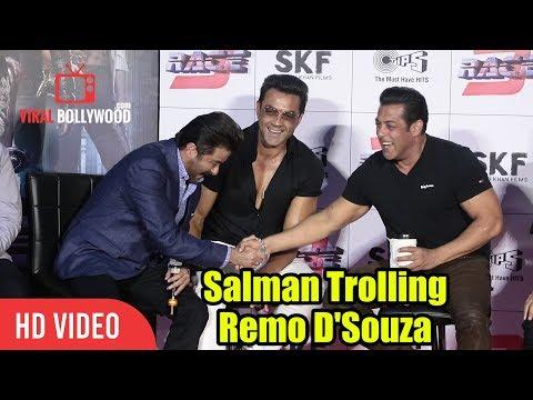 Salman Khan Makes Fun Of Remo D'Souza | Race 3 Official Trailer Launch