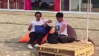 Pengunjung Bisa Bersantai di Zona Festival Asian Para Games 2018