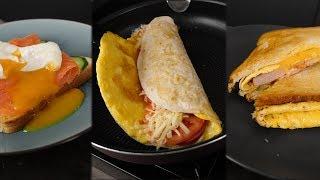 3 РЕЦЕПТА горячих бутеров на завтрак!1!1