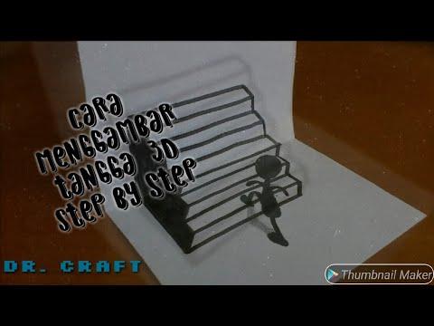 Cara Membuat Gambar Tangga 3d Dengan Pensil