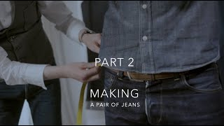 Making a Pair of Jeans: 1 by 1 Paul Kruize Tailoring Jeans, Shirts and other Garments, PART 2