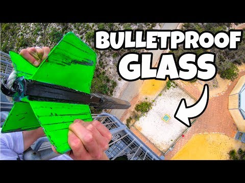 GIANT DART Vs. BULLETPROOF GLASS from 45m!