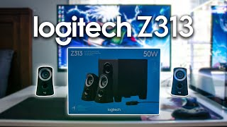 Logitech Z313 Unboxing and Test   Best Budget Speakers for PC! (Subwoofer Included!)