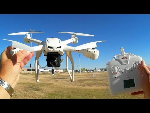 MJX X101A 720p HD FPV Camera Drone Flight Test Review