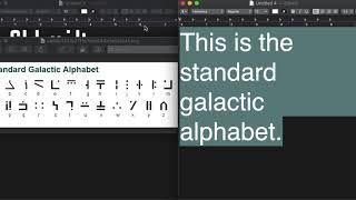 The Standard Galactic Alphabet (Minecraft Enchanting Language)