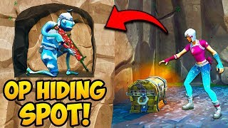 *NEW TRICK* HIDE INSIDE CAVE WALLS!! - Fortnite Funny Fails and WTF Moments! #791