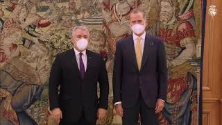Encuentro con Su Excelencia el Presidente de la República de Colombia, Iván Duque Márquez, con motivo de su Visita Oficial a España