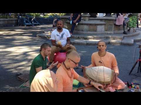 Ananda Prabhu Chants Hare Krishna and a Couple Plays Shakers and Eats Cookies