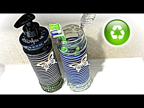 Cómo hacer un dispensador de jabón reciclado. How to make a soap dispenser