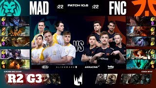 Fnatic vs Mad Lions - Game 3 | Round 2 PlayOffs S10 LEC Spring 2020 | FNC vs MAD G3