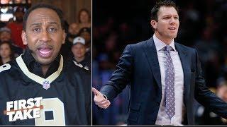 Will Magic Johnson intervene if LeBron James keeps ignoring Luke Walton? | First Take