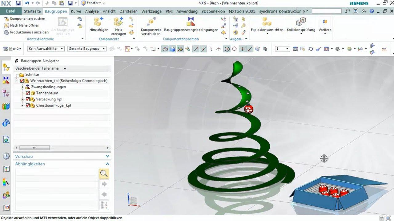 Vorschaubild: NX Tutorial: Erweiterte Modellierfunktionen und Methoden