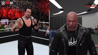 WWE 2K16 Undertaker returns & Goldberg attacks him (The Undertaker is NEXT!)