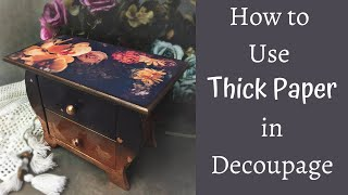 PRINTING DECOUPAGE PAPERS AT HOME | HOW TO DECOUPAGE WITH THICK PAPER | TUTORIAL FOR BEGINNERS
