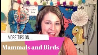 More Tips on Mammals and Birds!
