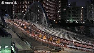 豊洲開場:運搬車ターレ、築地から大移動2.3キロ自走