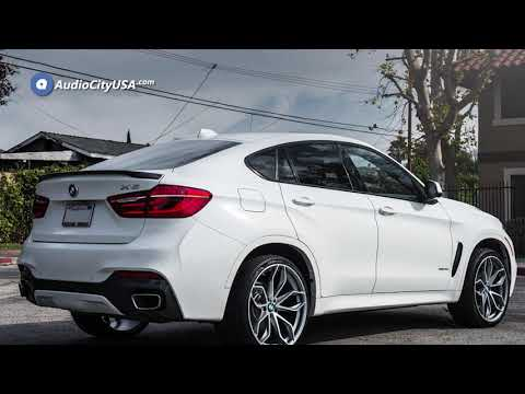 2018 BMW X6 X Drive 22″ Staggered Road Force Wheels RF 17 Satin Gunmetal Machined Rims  AudioCityUSA