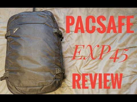 Wandering Blue Passports: PACSAFE EXP 45 Carry On Travel Bag Review!