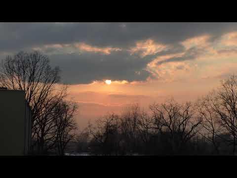 Жизнь в Польше закат солнца таймлапс/ timelaps из нашего окна