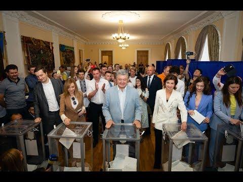 Порошенко проголосував на парламентських виборах 2019 за ЄС та НАТО