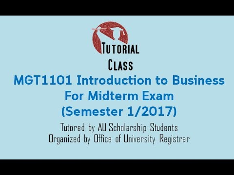 MGT1101 Introduction to Business For Midterm Exam (Semester 1 ...