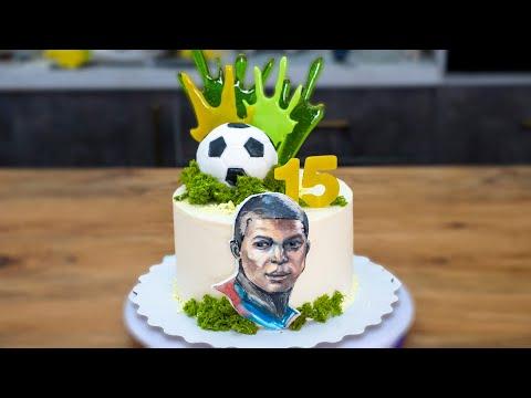 Как сделать футбольное оформление торта